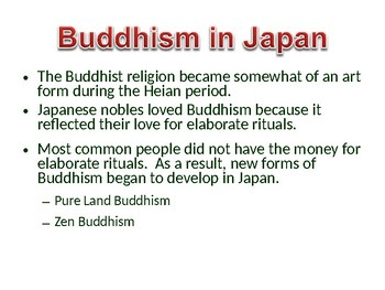 Japanese Buddhism and Shintoism Lesson: Nara and Heian Period
