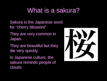 Japanese Cherry Blossom (Sakura) Painting PowerPoint