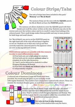 Japanese Colours - Activity Package