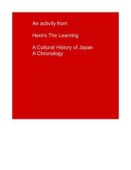 Japanese Cultural History - a timeline