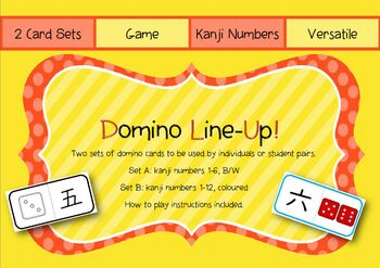 Japanese Kanji Number DOMINO LINE-UP