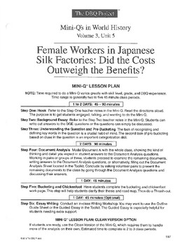 Japanese Factory Workers: DBQ