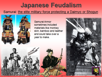 Japanese Feudalism -- PowerPoint, Notes, Poem Activity, Japan Class Pyramid