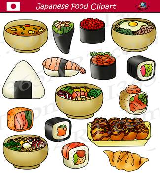 Japanese Food Clipart Bundle Asian Food