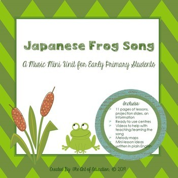 Japanese Frog Song Music Mini Unit