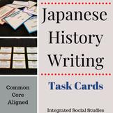 Japanese History Writing Task Cards