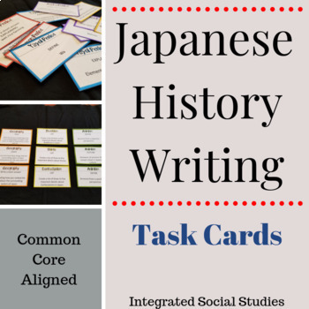Japanese History Writing Task Cards