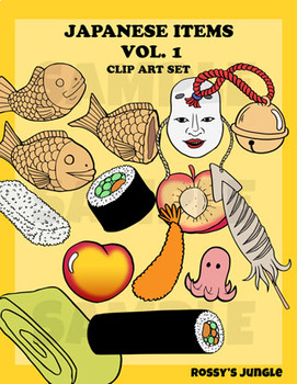 Japanese Icons  Clip art set 1