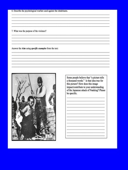 Japanese Imperialism Primary Source Worksheet