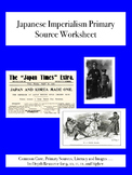 Japanese Imperialism Primary Source Worksheet
