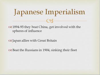 Japanese Imperialism and Meiji Restoration -- PowerPoint