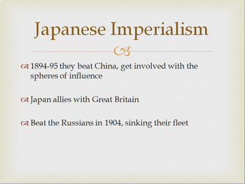 Japanese Imperialism and Meiji Restoration -- PowerPoint