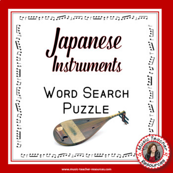 Music Word Search: Japanese Music Instruments Word Search ...