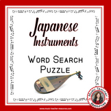 Music Word Search: Japanese Music Instruments Word Search: World Music