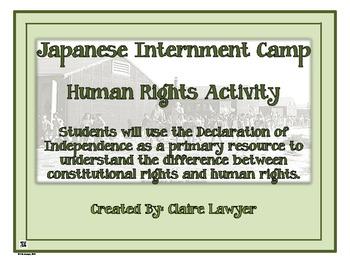 Japanese Internment Camp Human Rights Activity