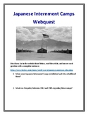 Japanese Internment Camps Webquest (With Answer Key!)