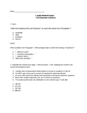 Japanese Internment Passages & Question Sets
