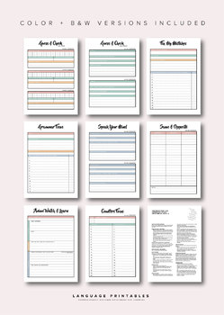 Japanese Language Study Printables pack 2