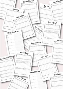 Japanese Language Study Printables pack 3