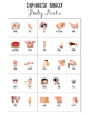 Japanese Learning with Pictures for Kids – Bingo Cards - Body Parts