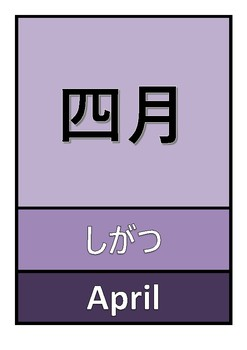 Japanese Months Poster
