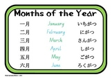 Japanese Months of the Year Poster