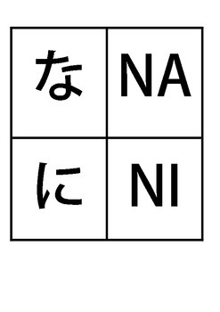 photograph about Hiragana Flash Cards Printable named Eastern NA-NO and HA-HO Printable Hiragana Flashcards