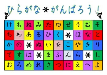 Japanese: Ninja Search Hiragana game