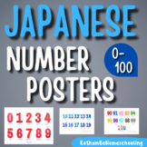 Japanese Number Classroom Posters 0-100