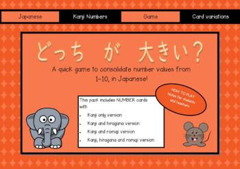 Japanese Numbers: Which is bigger? A card game