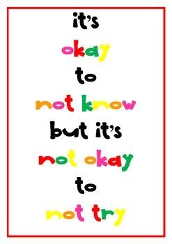 Classroom Motivation Poster