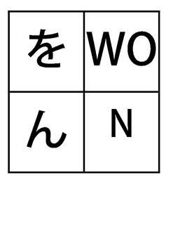 Japanese RA-RO and WA-N Printable Hiragana Flashcards