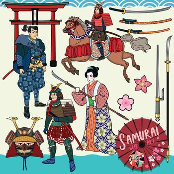 Japanese Samurai Clip Art