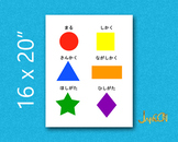 Japanese Shapes Learning Poster for Kids