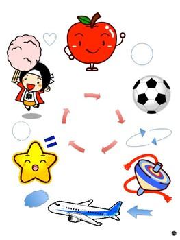 Japanese Song: Word Chain Singing Game 'Ringo Wa Marui' ♬りんごは丸い♬