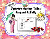Japanese Weather Telling Song and Activity FREEBIE