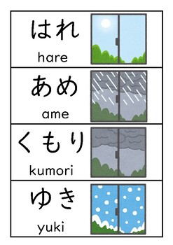 Japanese Weather and Seasons Labels