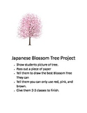 Japanese blossom tree project