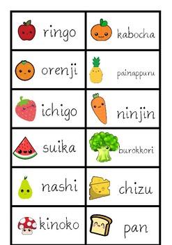 Japanese food vocabulary matching game