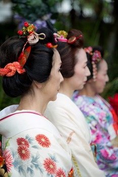 Japanese ladies - traditional dress