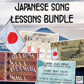 Japanese lesson set BUNDLE: teach 6/8, 3/4, pentatonic, canons, and more