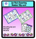 Jar Bee's Counting Clip card 0-10
