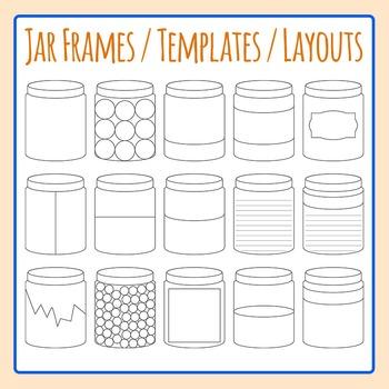 Jar Frames / Templates / Layouts Bottle Clip Art Commercial Use