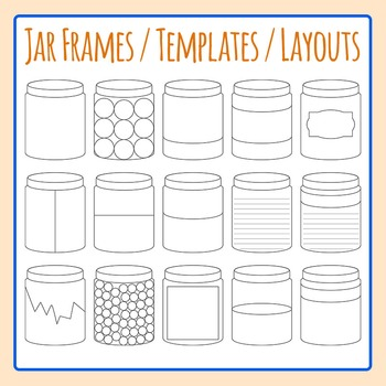 Jar Frames / Templates / Layouts Bottle Clip Art Commercial Use