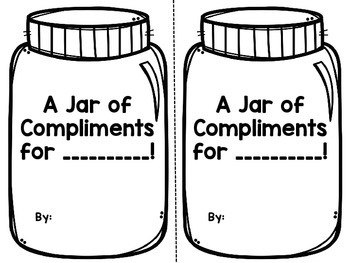 Jar Full of Compliments: AN end of the year activity!