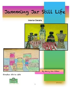 Jar Still Life Visual Arts Lesson for 5th to 12th Grade