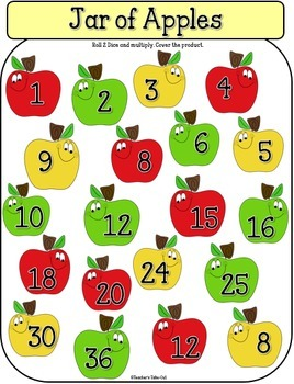 Jar of Apples Addition or Multiplication Game