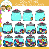 Jar of Candy Counting Clip Art