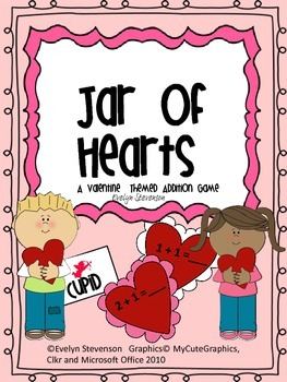 Jar of Hearts Valentine Themed Addition Game