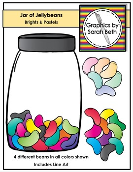 Jar of Jelly Beans Clipart -- Easter Clipart